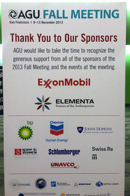 AGU, Sponsored By Exxon
