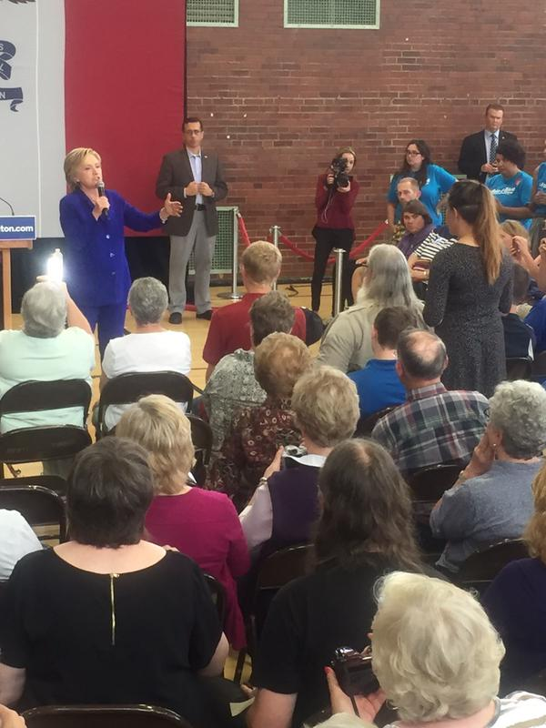 Hillary Clinton in Iowa